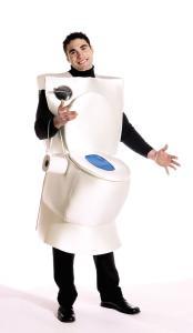 Halloween costumes walking toilet