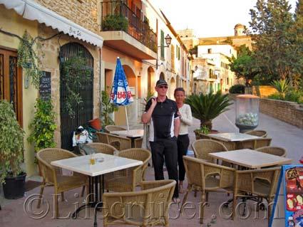 Cafe in Alcudia Old Town, Majorca, Photo Copyright Lifecruiser
