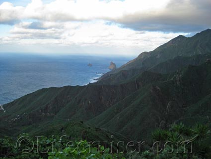 View of Anaga mountains meeting the sea, Tenerife North, Photo by Lifecruiser