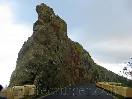 A top rock on the edge of a mountain in Anaga area, Tenerife North, Photo by Lifecruiser