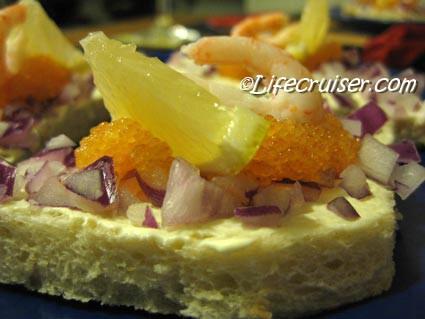 Lifecruiser Birthday Starter with white fish roe