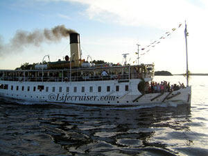 Steam ship in Stockholm
