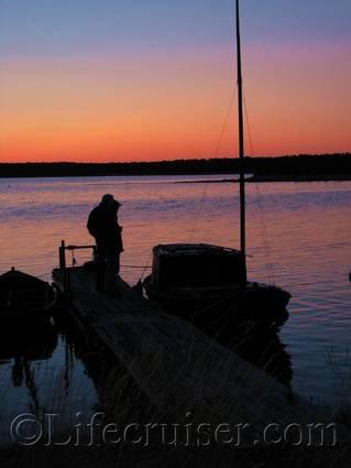 Boat check in the Sunset, Fårö island, Gotland, Sweden, Copyright Lifecruiser.com