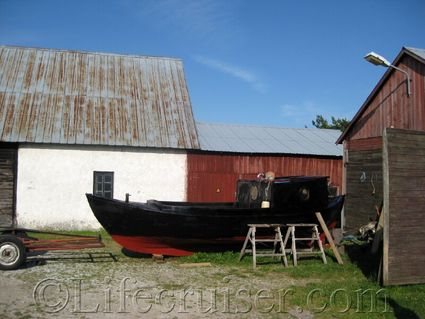 The farmers old fishing boat, Fårö island, Gotland, Sweden, Copyright Lifecruiser.com