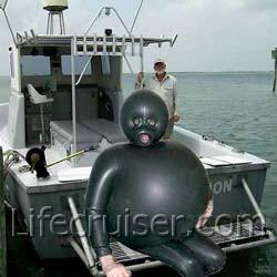 Lifecruiser fart in a wet suit