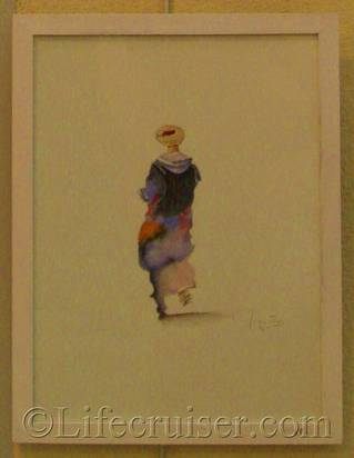 Aquarelle paintings at French Art Exhibition, France, Copyright Lifecruiser.com