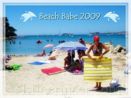 Bandol beach babe, Provence, France, Copyright Lifecruiser.com