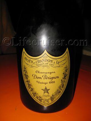 Dom Perignon Champagne bottle, Vintage 1999, France, Copyright Lifecruiser.com