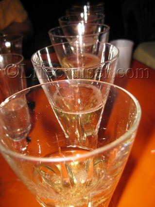 Dom Perignon Champagne glasses, Vintage 1999, France, Copyright Lifecruiser.com