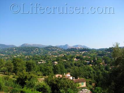 Hotel Marc-Hely's stunning room view, La Colle sur Loup, France