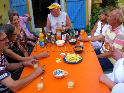 First Pastis taste around the table, France, Copyright Lifecruiser.com