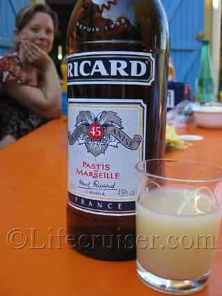 Pastis Drink at Claudie and Pierres home, Provence, France, Photo Copyright Lifecruiser.com