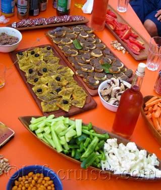 Local Provencal specialities snacks, France, Copyright Lifecruiser.com