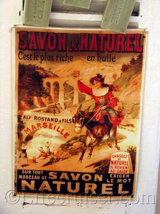 Vintage Savon Naturel Poster, Provence, France, Copyright Lifecruiser.com