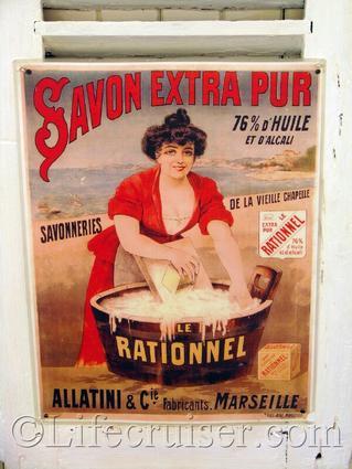 Vintage Savon Rationnel Poster, Provence, France, Copyright Lifecruiser.com