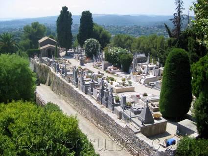 Saint Paul de Vence cemetery view, France