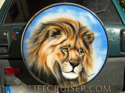 Lion Painting, Las Galletas, Tenerife, Photo by Lifecruiser