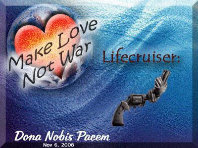 Lifecruiser Blogblast for Peace Globe Message