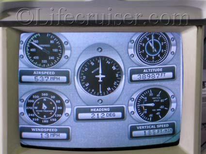 Flight instruments on flight monitor Airbus A330-300, Palma flight, Photo by Lifecruiser