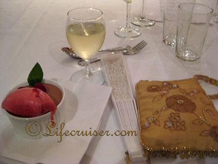 Birthday dessert at Holmsbu Bad and Fjord Hotel