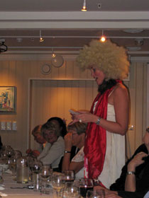 Tor's daughter as the Toastmaster speaking at Annas birthday