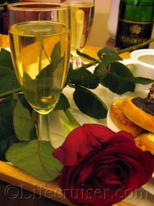 Lifecruisers 50th birthday sparkling wine and roses, Prague, Czech Republic, Photo Copyright Lifecruiser.com