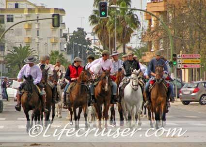 Romeria San José riders at Sanlúcar, Photo by Lifecruiser