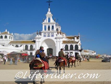 Romeria San José romero's at El Rocio church, Photo by Lifecruiser