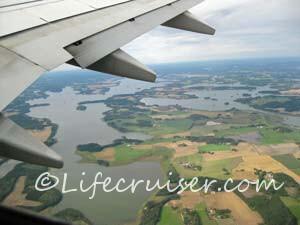 Swedish lakes from air