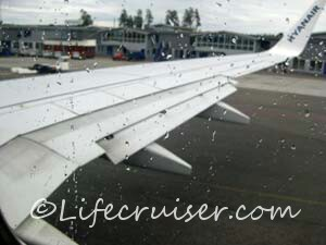 Ryanair Skavsta Airport airplane view