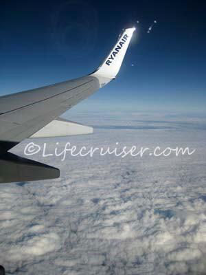 Ryanair Skavsta Airport airplane up in the air