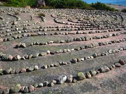 Swedish Easter Island Blue Virgin Labyrinth