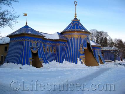 The Copper Tents, Hagaparken, Solna, Sweden, Copyright Lifecruiser.com