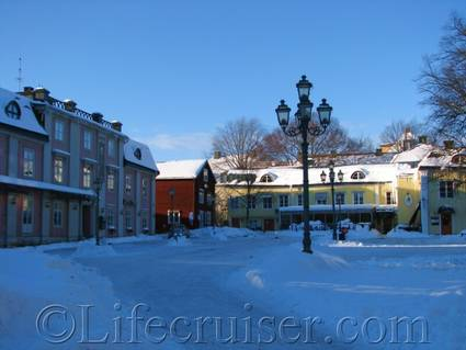Old houses, Västerås, Sweden, Copyright Lifecruiser.com