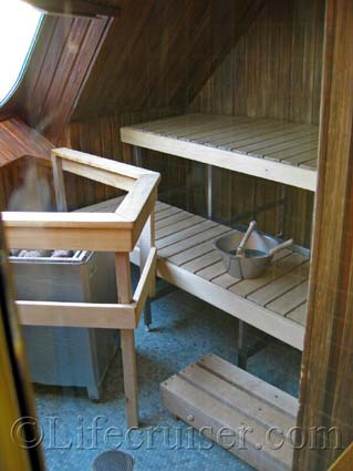 Silja Symphony Cruise Ship's Sauna, Photo by Lifecruiser