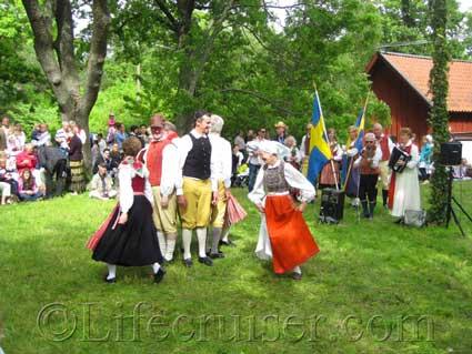 Midsummer Celebrations in the Midsummer meadow at Bromma Church 2009, Sweden, Photo Copyright Lifecruiser.com