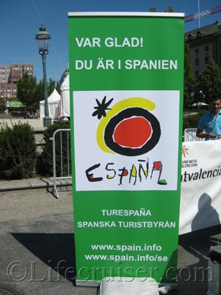 Sign Spanish Tourist Office in Sweden, Stockholm, Photo Copyright Lifecruiser.com