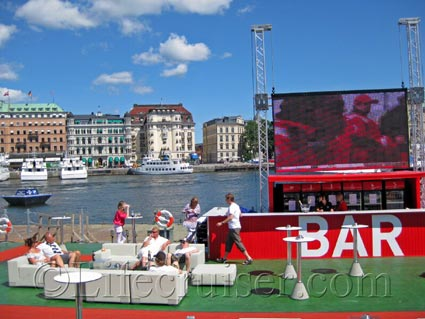 Bar at Skeppsbron, Volvo Ocean Race, Stockholm, Photo Copyright Lifecruiser.com