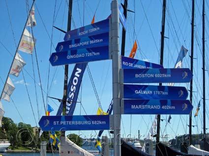 Volvo Ocean Race Distances, Stockholm, Photo Copyright Lifecruiser.com