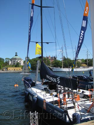 One of the Ericsson boats at Skeppsbron during Volvo Ocean Race, Stockholm, Photo Copyright Lifecruiser.com