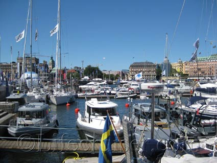 Visiting boats at Skeppsbron during Volvo Ocean Race, Stockholm, Photo Copyright Lifecruiser.com
