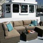 Lounge area rent yacht boat st Katharine