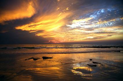 Australia: Cable beach sunset, Broome