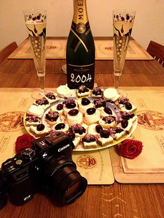 Canon G1 X with Moet Chandon Champagne