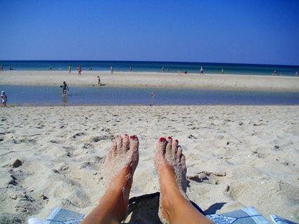 Germany: Sylt island beach feet
