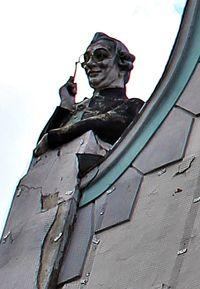 Estonia, Tallinn: bust of man goggling