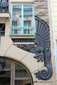 Estonia, Tallinn: Dagon house figure