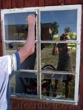 Faro farm window painting