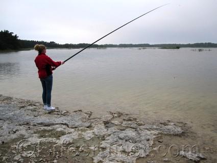 Jane fishing, Fårö, Gotland, Sweden