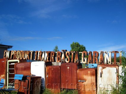 faro-rusty-fridges-sign, Gotland, Sweden